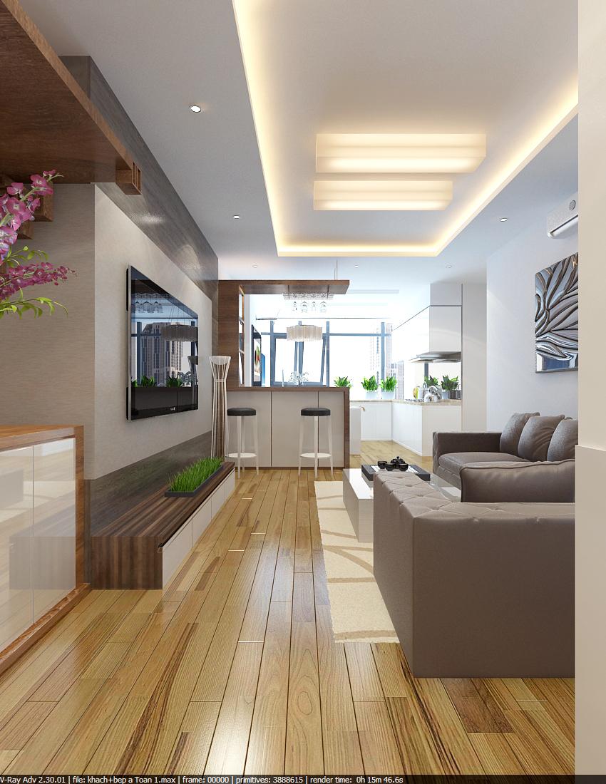 Thi công nội thất chung cư 80 m2