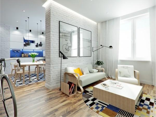 Thiết kế nội thất căn hộ 43,5m3 hiện đại trẻ trung