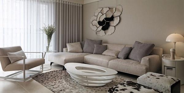 Thiết kế nội thất chung cư hiện đại với gam màu nhạt