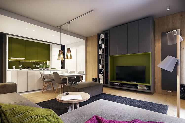 Trang trí nội thất nhà đẹp với tông màu xanh hồng cá tính